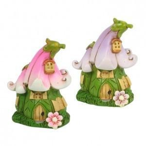 Fairy Garden House - Miniature Flower Fairy House 6cm