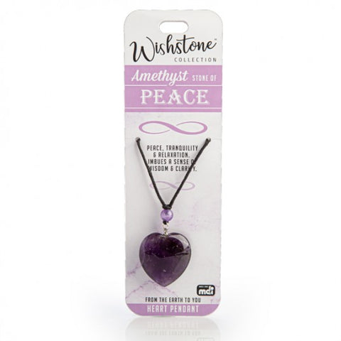 Wishstone Collection Amethyst Heart Necklace