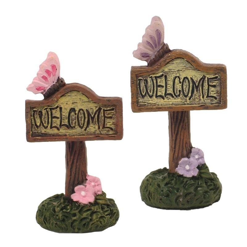 Enchanted Fairy Garden Welcome Sign