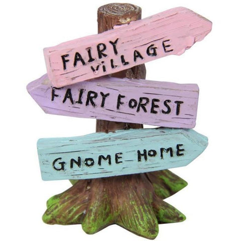 Fairy Garden - Fairy Garden Sign Post