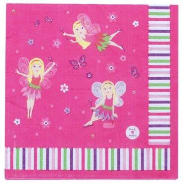Fairy Party Napkins - Fairy Party Napkins 12 Pce