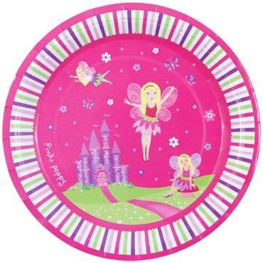 Fairy Party Plates - Fairy Party Plates 8Pkt