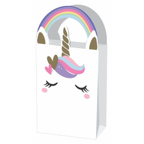 Paper Unicorn Treat Bags 4Pce