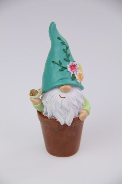 Flower Gnome In Pot