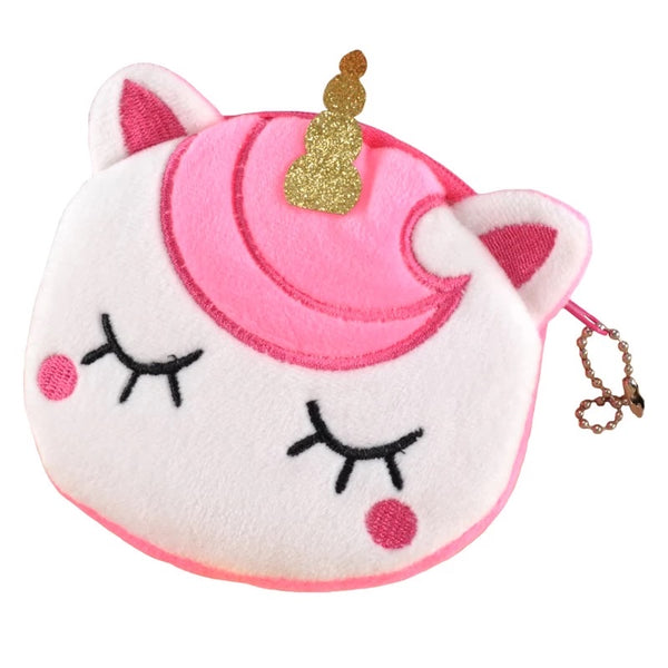 girls pink unicorn coin purse