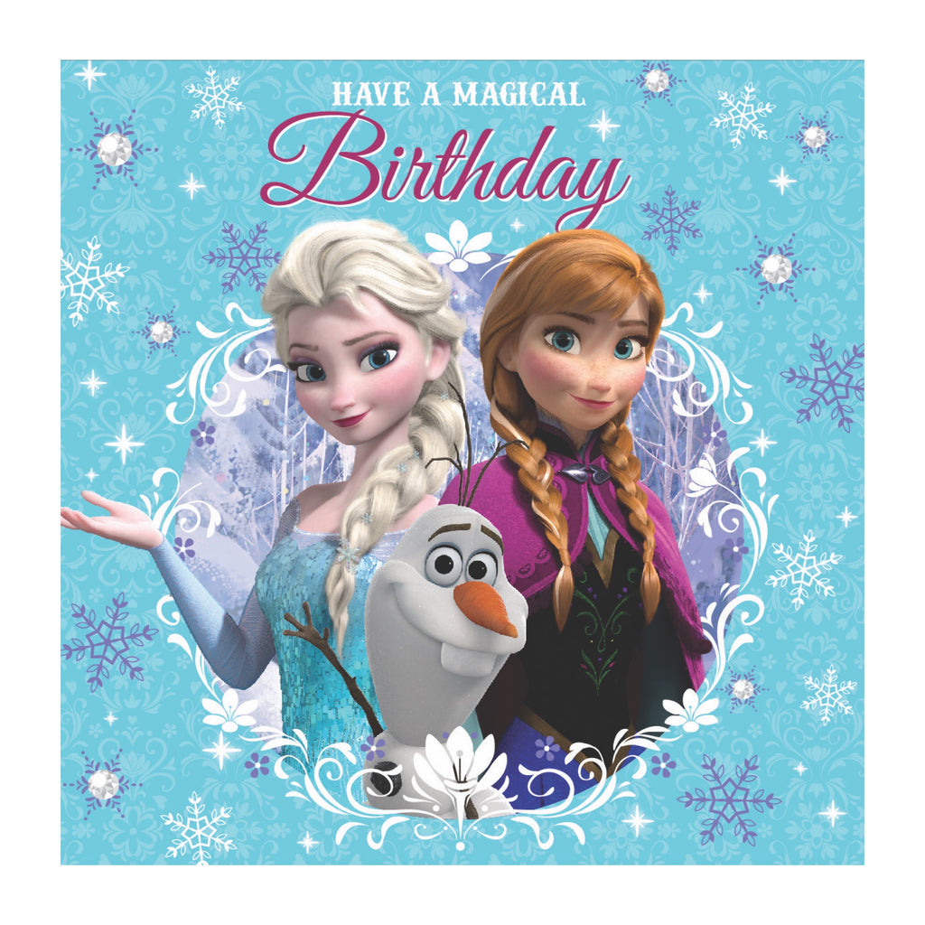 Large Square Frozen Birthday Card