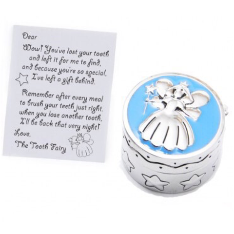 Mini Tooth Fairy Box & Letter | Blue