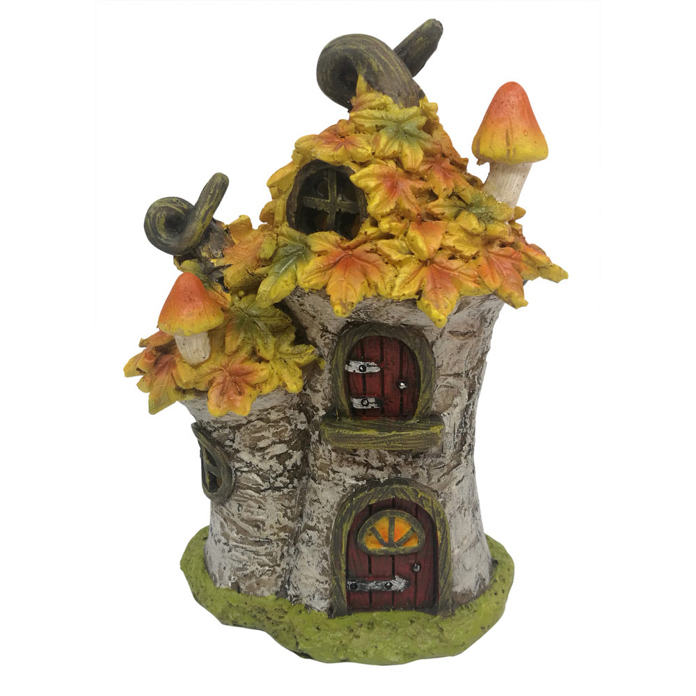 LED Autumn Leaf Tree House 15.5 cm