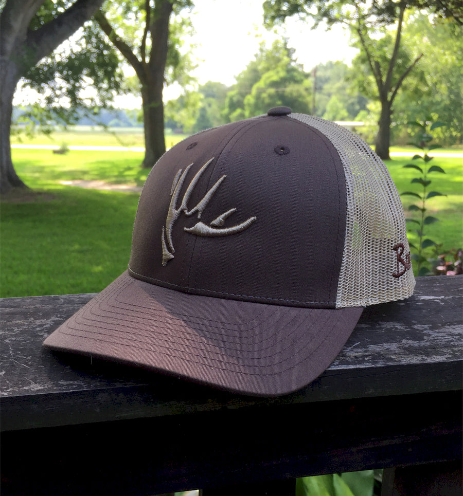 Bone Brand | The Shed | 115 Snap-Back Cap | Brown/Tan with Tan Stitching