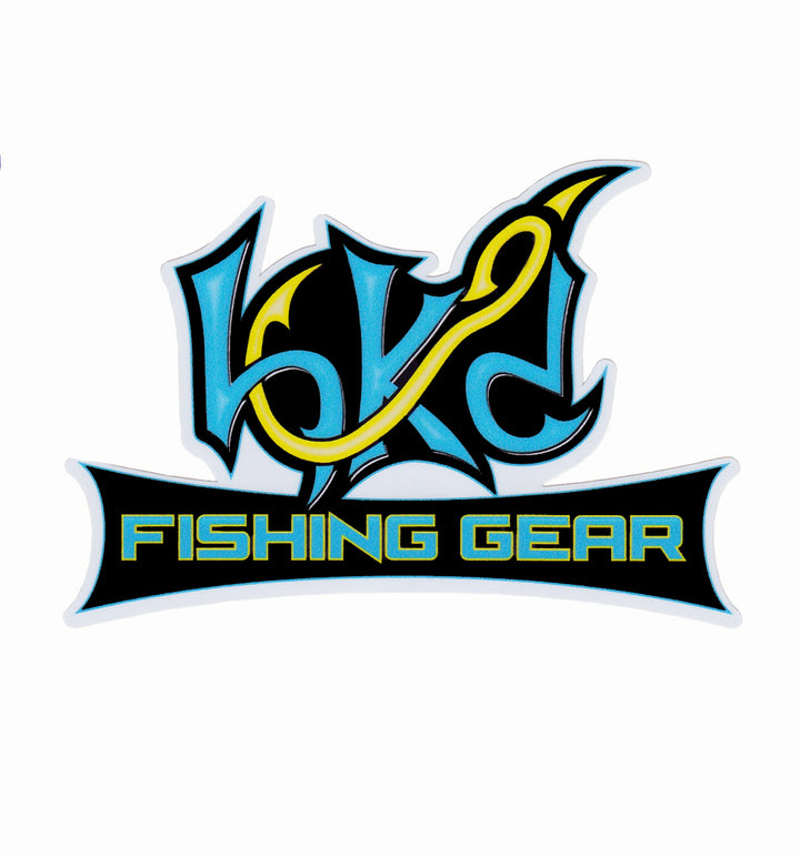Bone Brand Window Decal | Hk'd Fishing Gear Logo | Blue/Yellow/White/Black