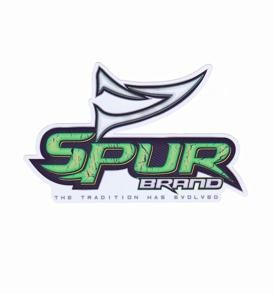 Bone Brand Window Decal | Spur Brand | The Tradition Has Evolved Logo | Green/Black