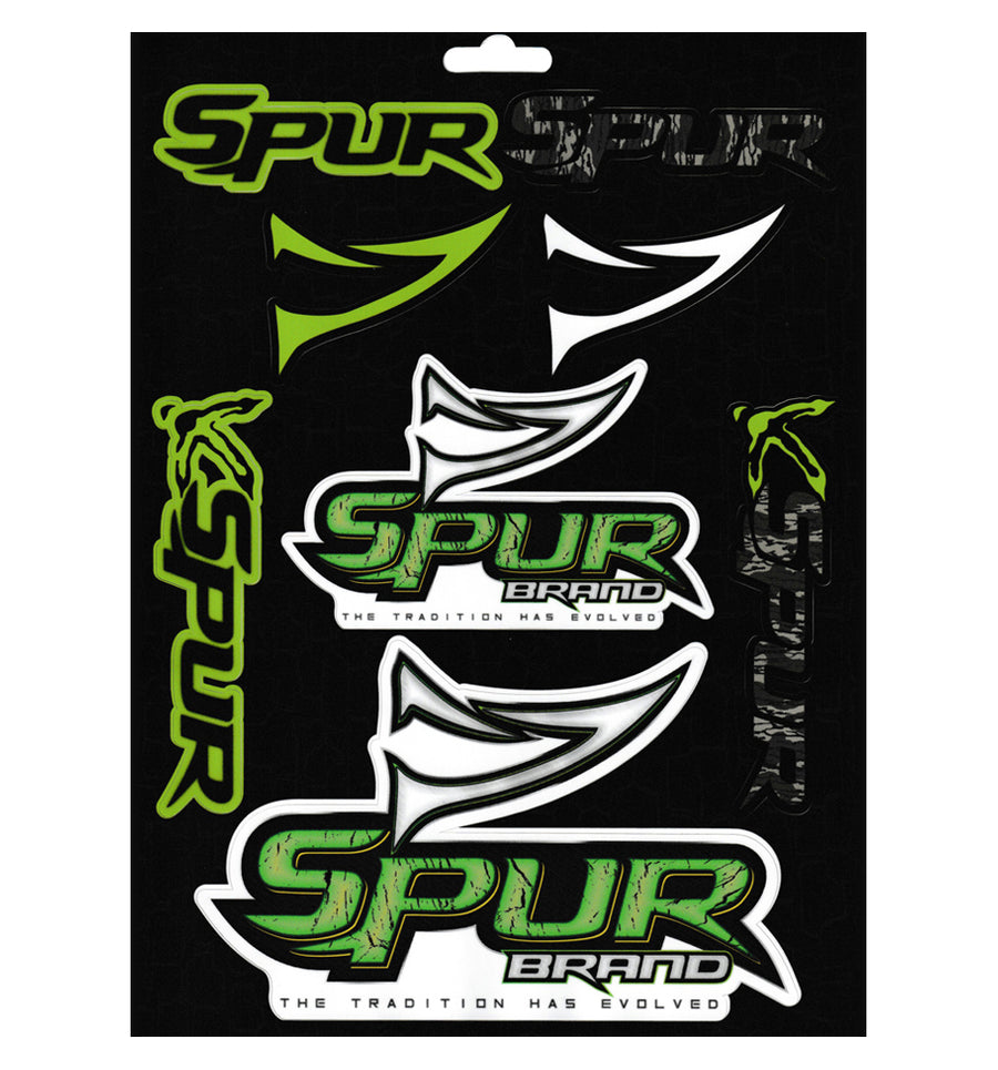 "Bone Brand | Decal Variety Pack | ""Spur Brand"" with Mossy Oak Bottomland"