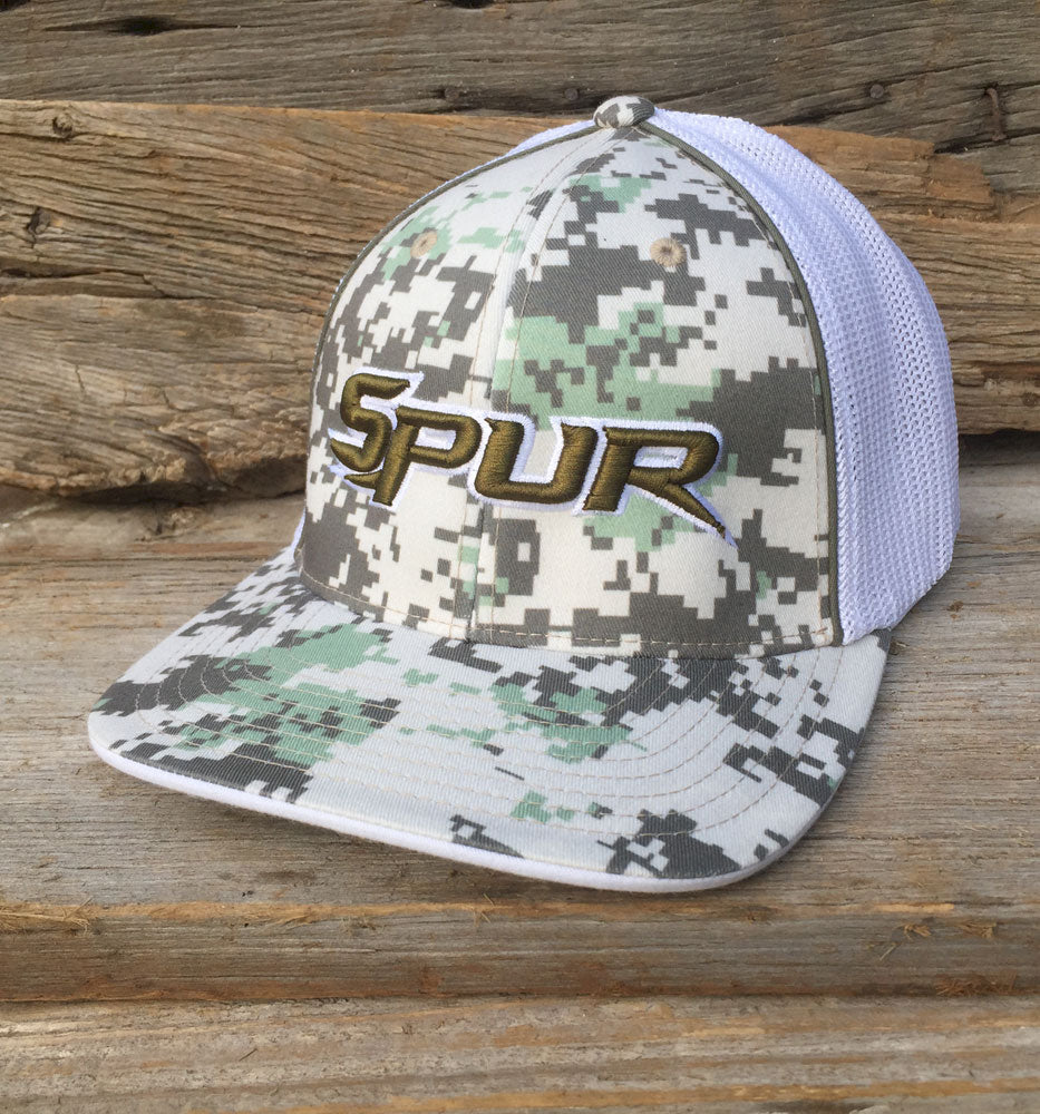 Spur 408M Flexfit Cap - Digital Camo White with Olive White ... 29b1f1ce601