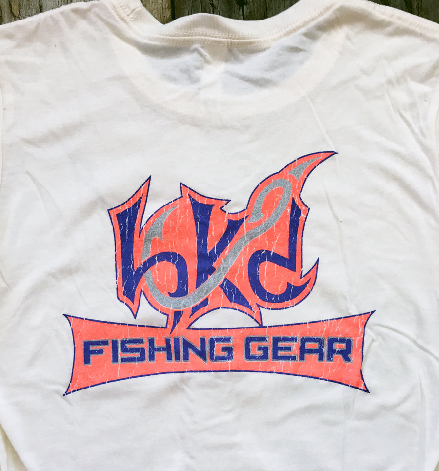 Bone Brand | Hk'd Fishing Gear | Ladies Crew-Neck Short Sleeve Tee | Beige | Rear