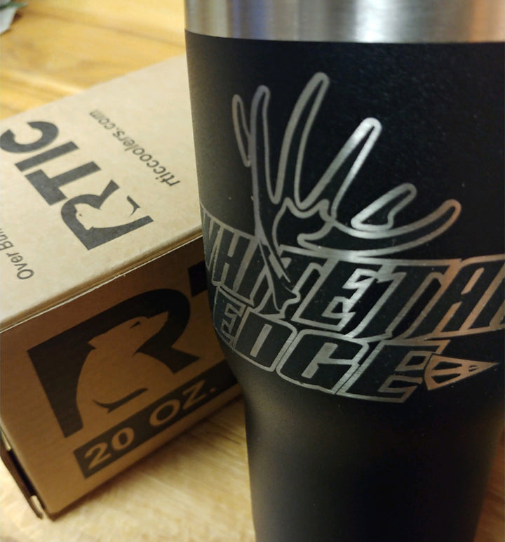 Spur Brand | Whitetail Edge | Rtic 20 oz Tumbler | Whitetail Edge Etched Logo