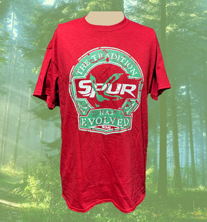 "Spur Brand | Distressed ""The Tradition Has Evolved"" Logo 