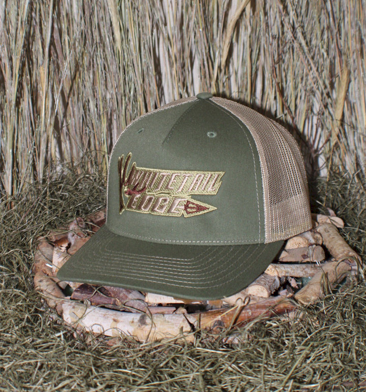 "Spur Brand | Whitetail Edge | ""Shed & Broadhead"" R112FP Snap-Back Cap 