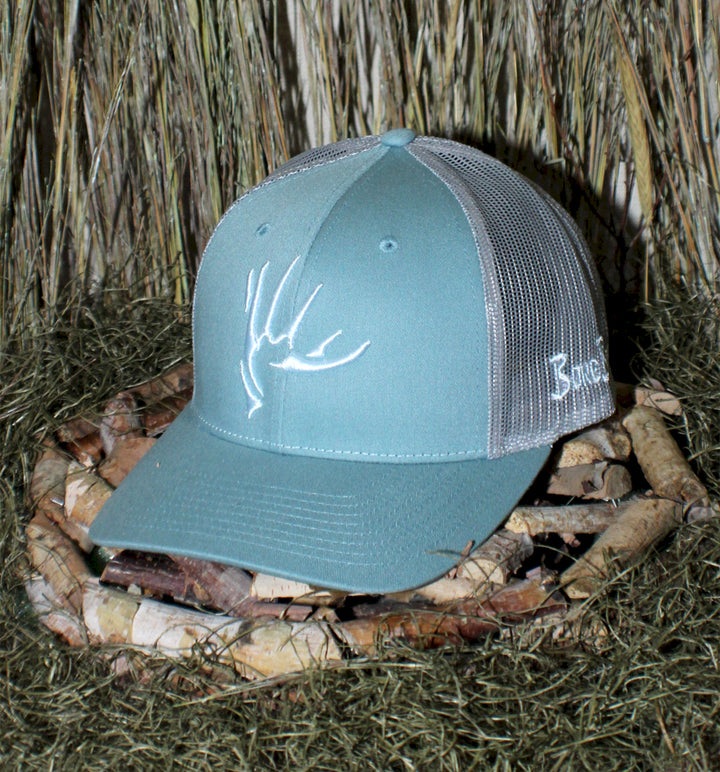 Bone Brand | The Shed | 112 Snap-Back Cap | Light Blue/Silver with White Stitching
