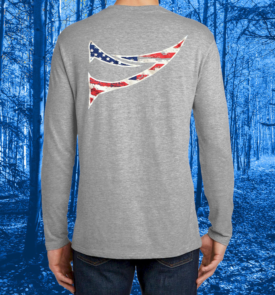 "Bonehead Brand | Spur ""Stars & Stripes"" Logo Long Sleeve T-Shirt 