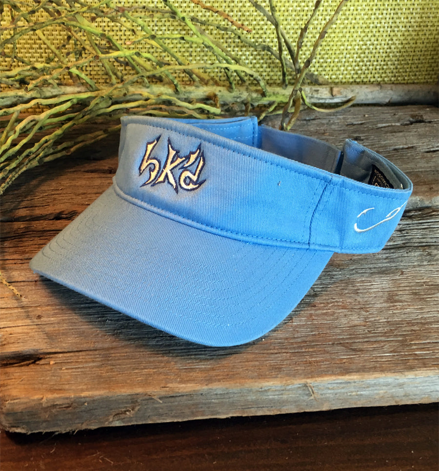 Bone Brand | Hk'd Fishing Visor | Carolina Blue with White/Navy Stitching