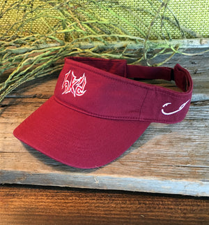 Bone Brand | Hk'd Fishing Visor | Crimson with Crimson/White Stitching
