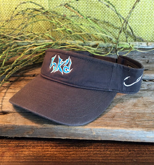 Bone Brand | Hk'd Fishing Visor | Dark Grey with Light Blue/White Stitching