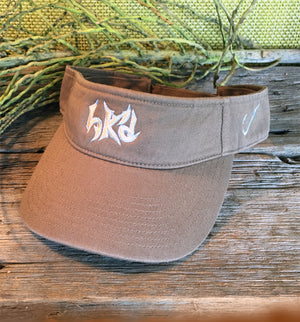Bone Brand | Hk'd Fishing Visor | Light Grey with Silver/Light Blue Stitching