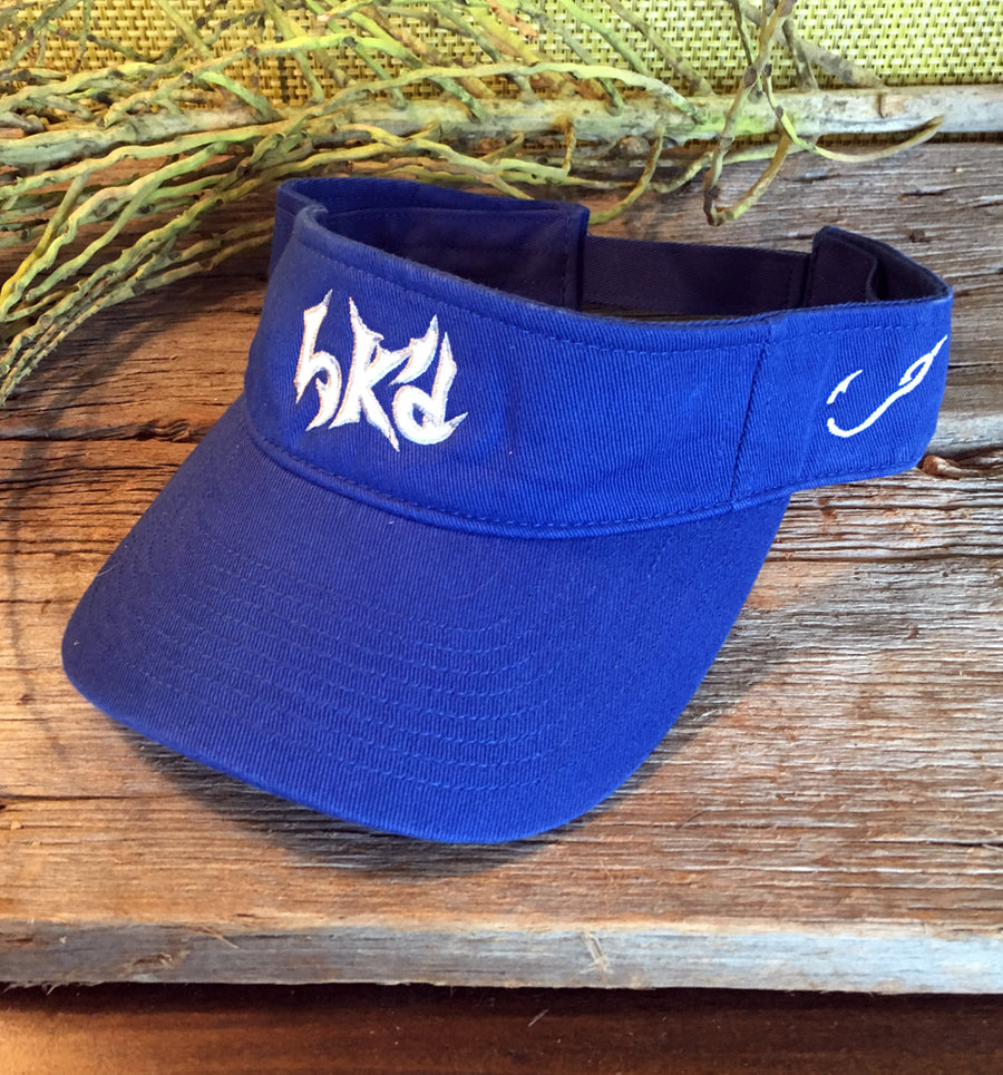 Bone Brand | Hk'd Fishing Visor | Royal with White/Silver Stitching
