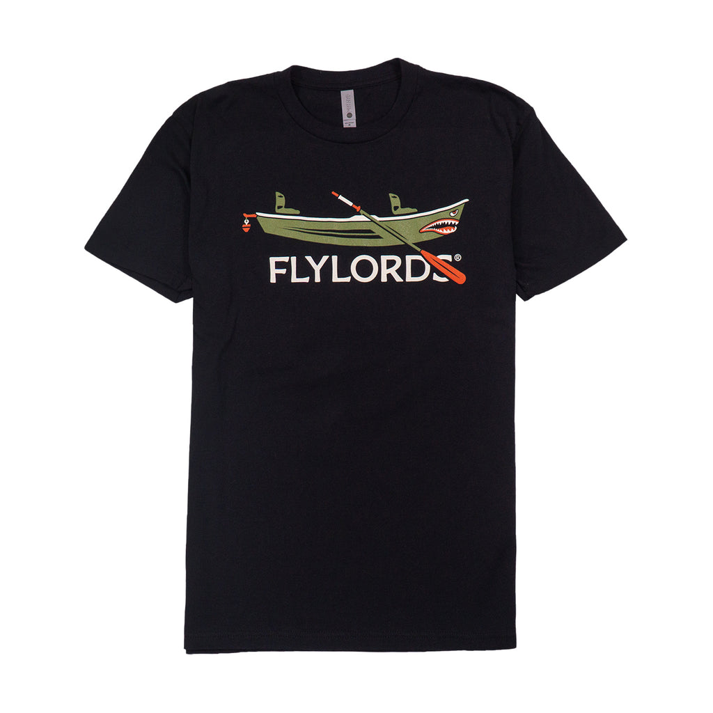 Black Fishing Boat Tee