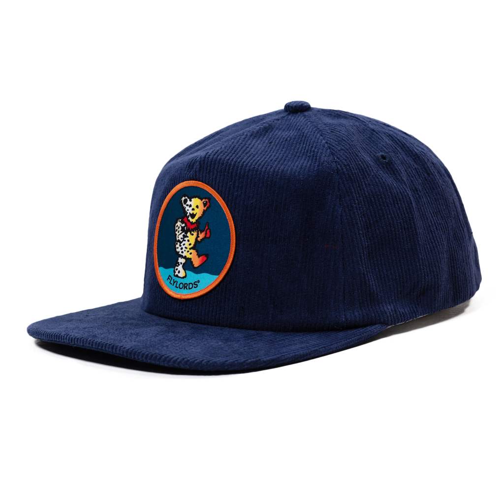 Corduroy Dancing Bear Hat - Navy
