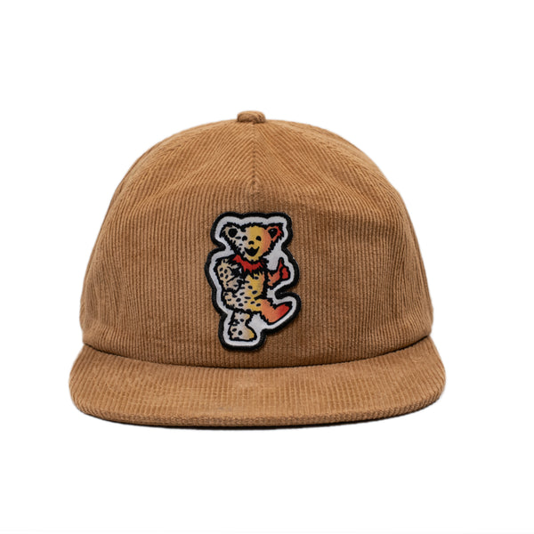 Corduroy Dancing Bear Hat - Coffee