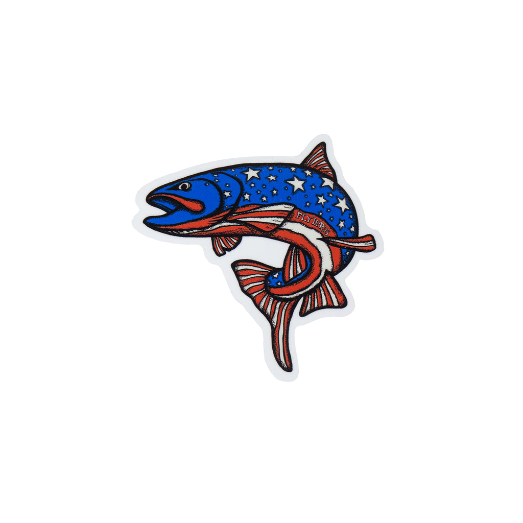 Patriot Fish Sticker