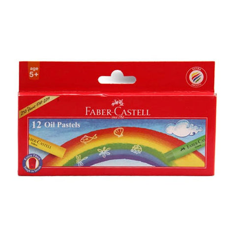 Faber-Castell Jumbo Oil Pastels - 12 Colors