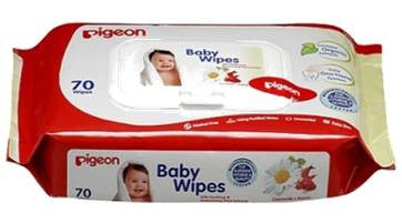 Pigeon Baby Wipes - Flip Top - 70 Sheets