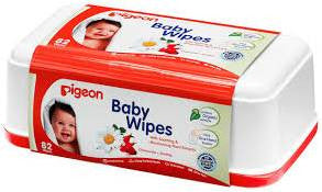 Pigeon Baby Wipes - Box - 82 Sheets