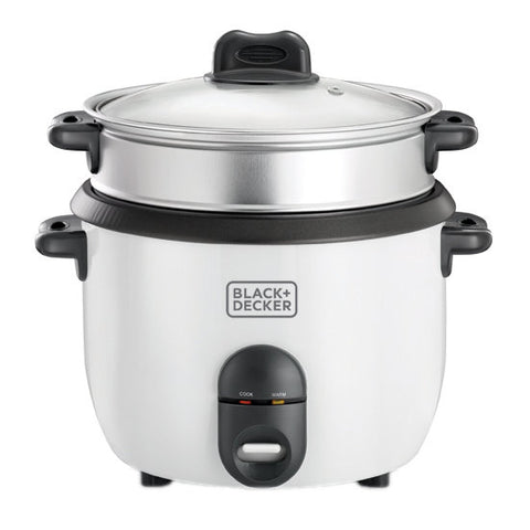 Black+Decker 1.8 Liter Rice Cooker with Steam Tray