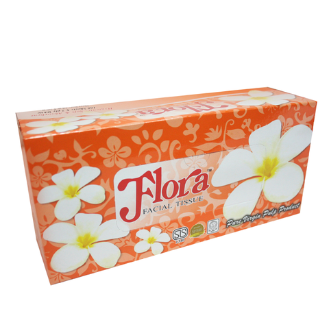 Flora Facial Tissues - 2 ply - (5 x 160 Sheet Packs)