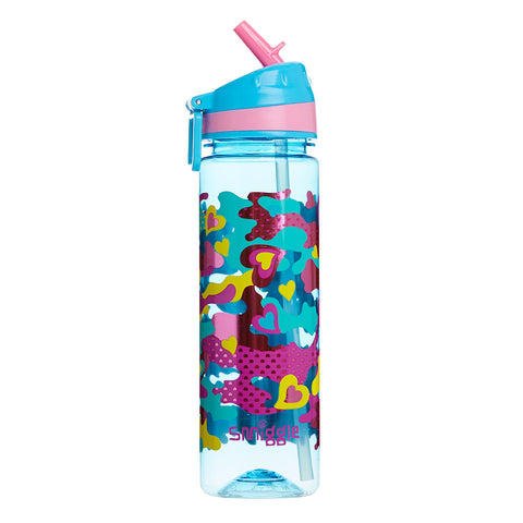 Smiggle Chaos Drink Up Straight Bottle - Blue