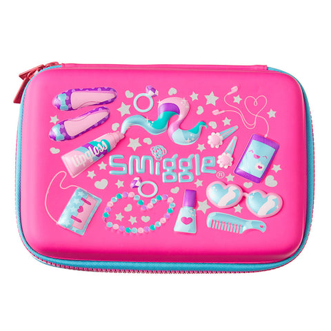 Smiggle Hello Scented Hardtop Pencil Case - Pink