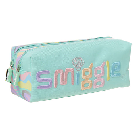 Smiggle Kicks Twin Zip Pencil Case - Teal
