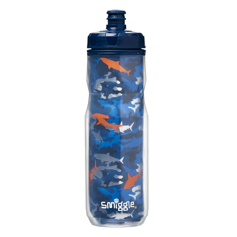 Smiggle On The Go Water Bottle - Mid Blue