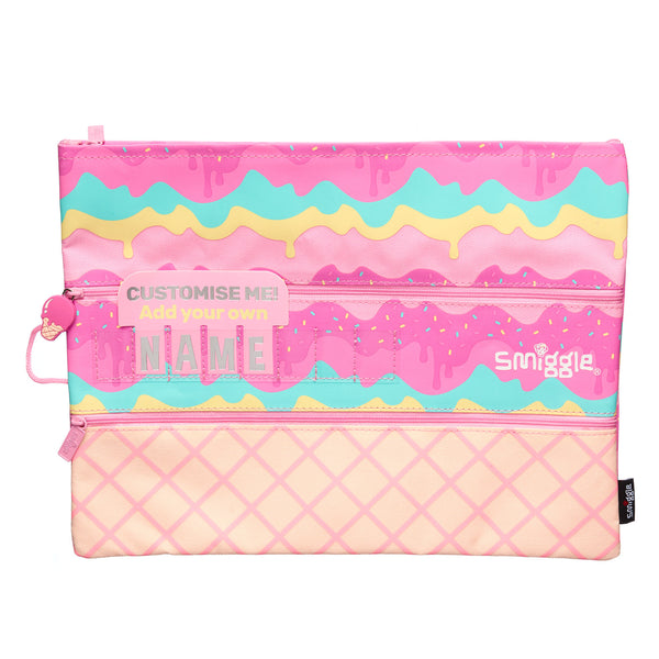 Smiggle Fave A4 Id Pencil Case - Pink