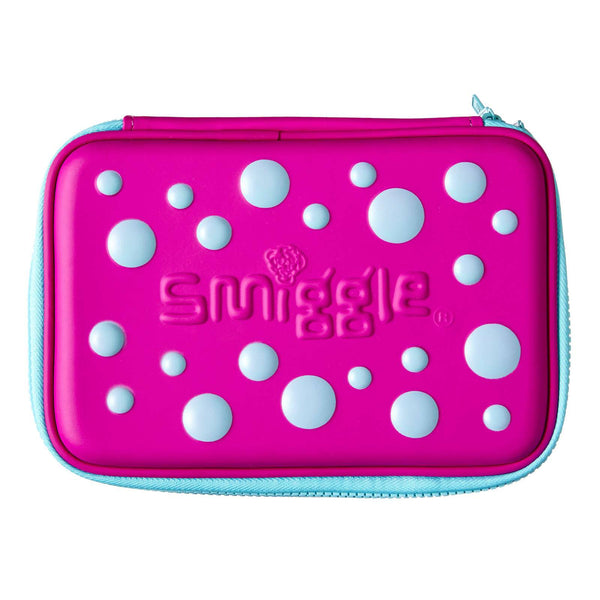 Smiggle Spot Double Up Hard Top Pencil Case - Purple