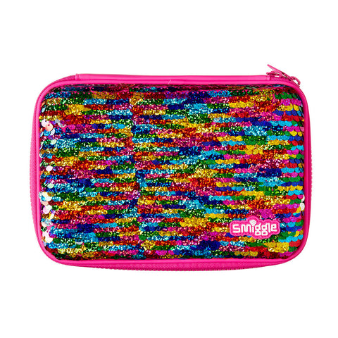 Smiggle Reverse Sequin Hardtop Pencil Case - Pink
