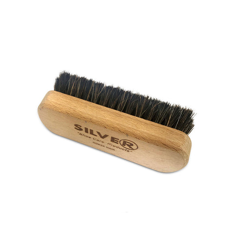 SILVER Horse Hair Shoe Brush