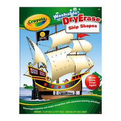 Crayola Washable Dry-Erase Activity Workbook - Ship Shapes