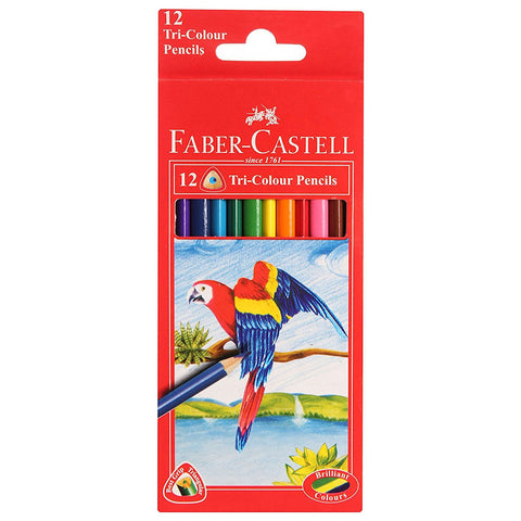 Faber-Castell 12 Triangular Color Pencils