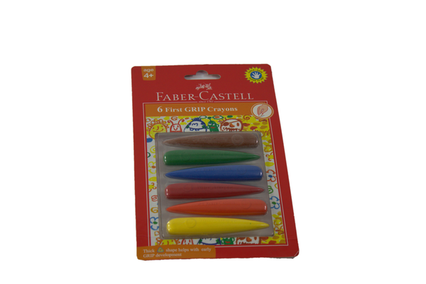 Faber-Castell 6 First GRIP Crayons