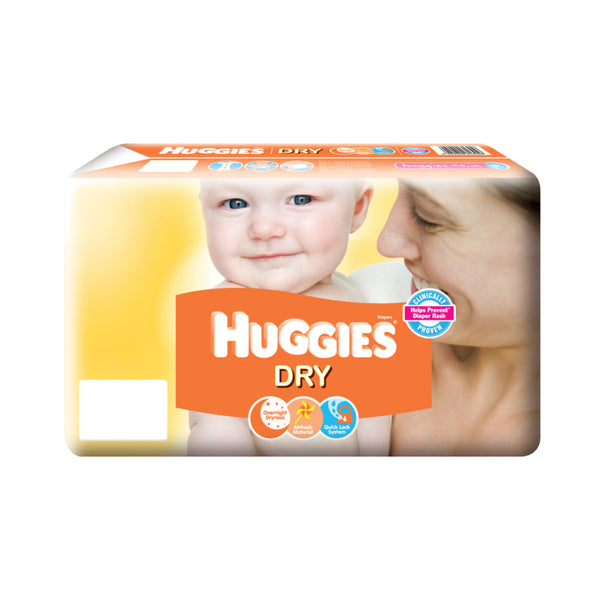 Huggies Dry Diapers - Large - 8pcs