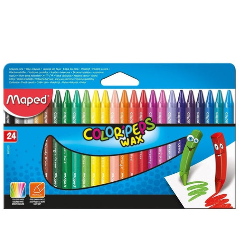 Maped Color Peps Wax Crayons 24 Colors